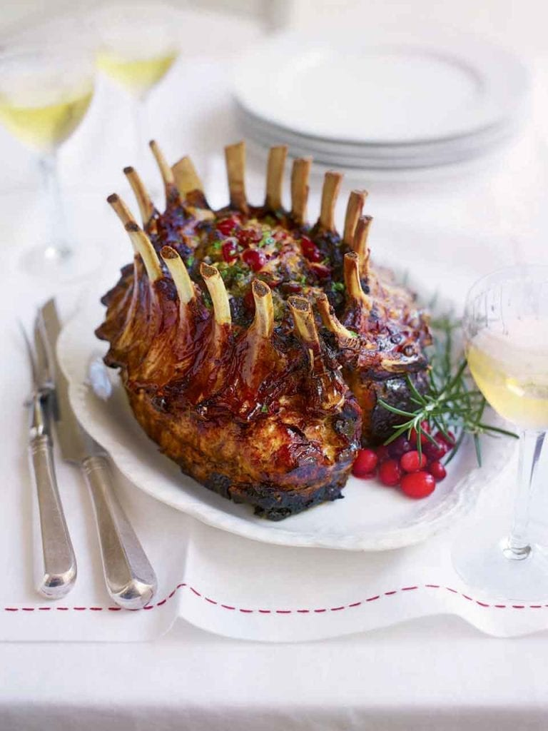 Roast pork with fruity stuffing