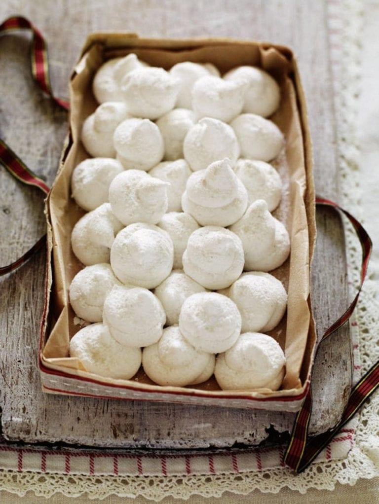 Marshmallow snowballs