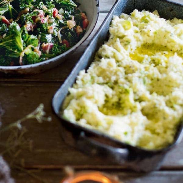 Parsnip and brussels sprout mash