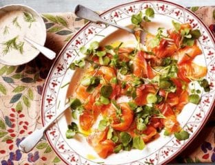 Citrus and fennel cured salmon with horseradish