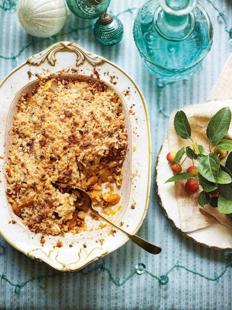 Pumpkin and swede crumble