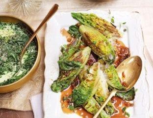 Braised little gem lettuces