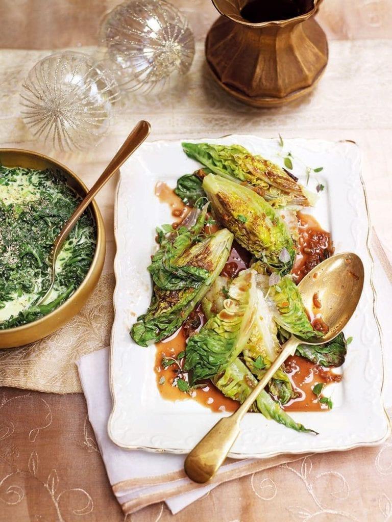 Michel Roux Jr's braised little gem lettuces