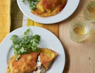 Creamy chicken and mushroom crispy pancakes