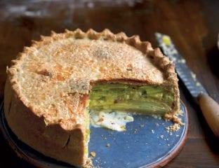 Creamy leek, potato and Gruyère pie