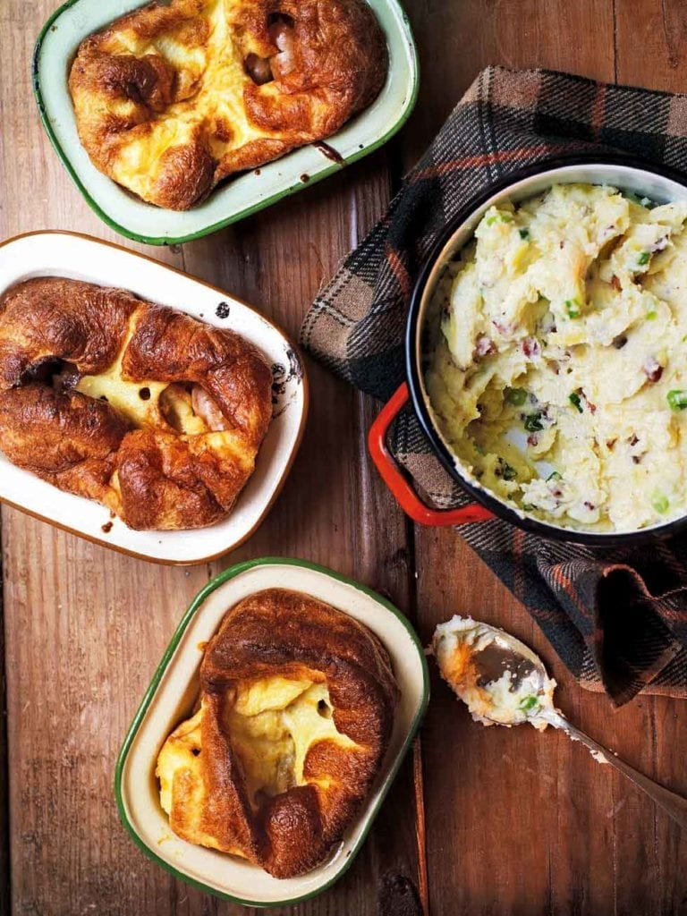Honey and mustard toad in the hole