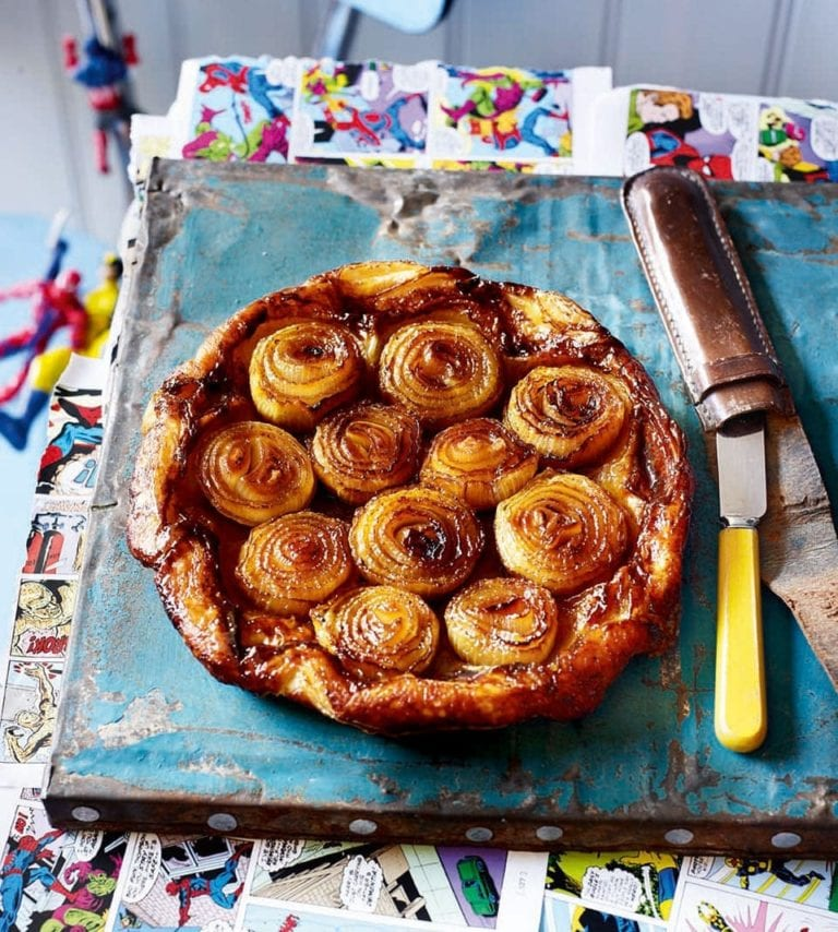 Caramelised onion tarte tatin
