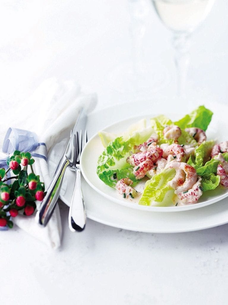 Crayfish and prawn cocktail salad