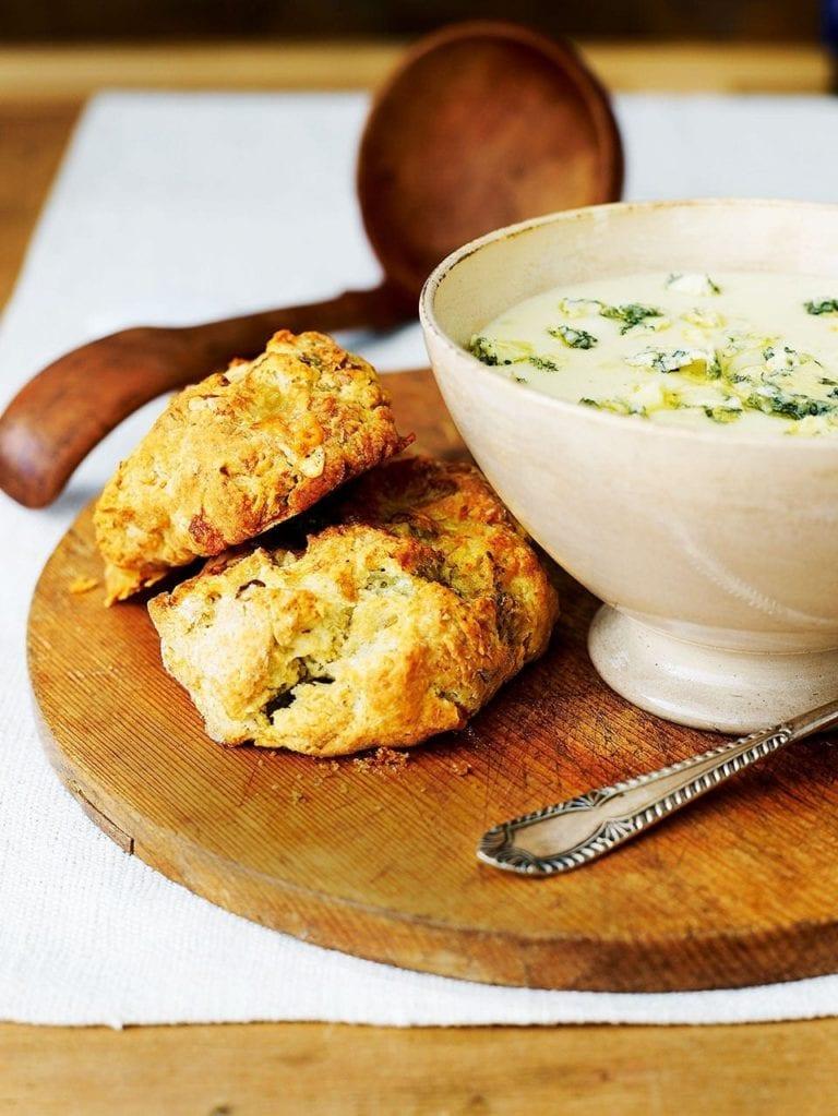 Potato and Stilton soup