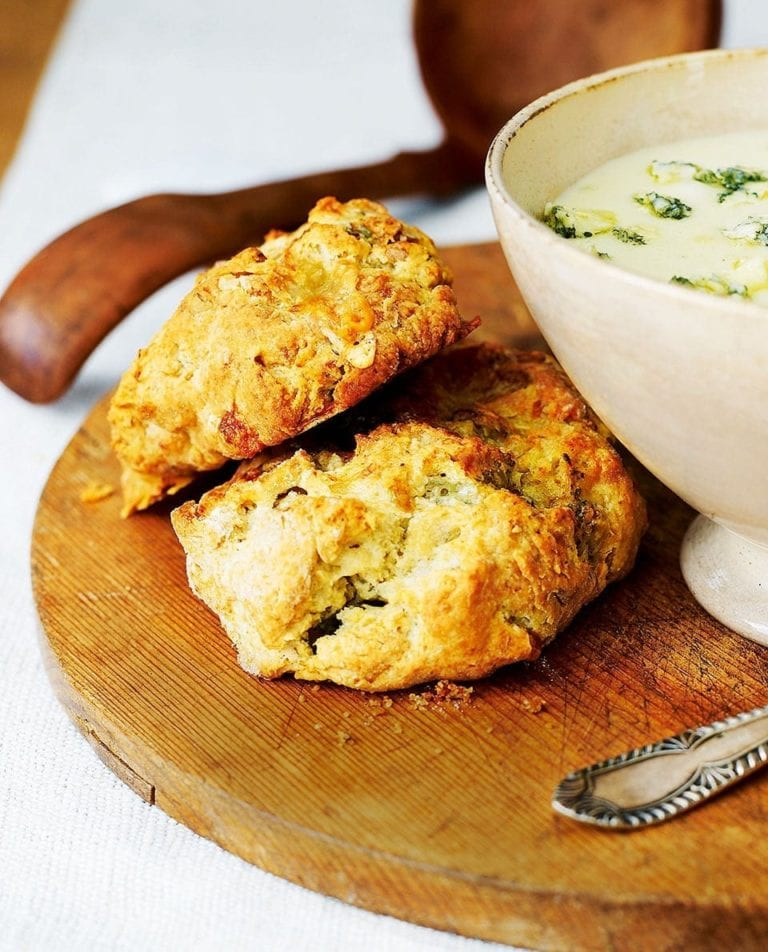 Stilton and walnut scones