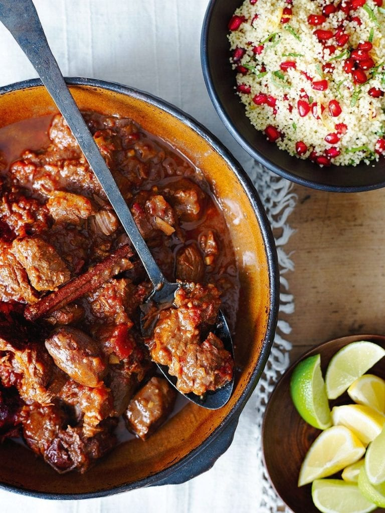 Lamb and date tagine with pomegranate couscous