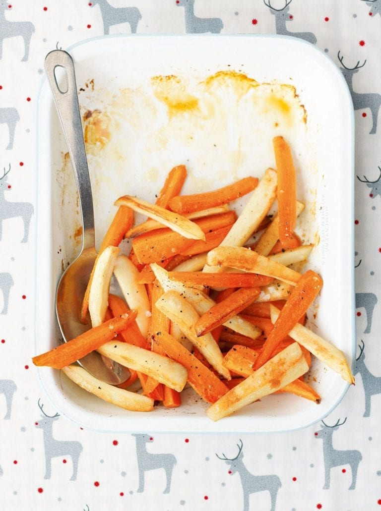 Honey butter carrots and parsnips