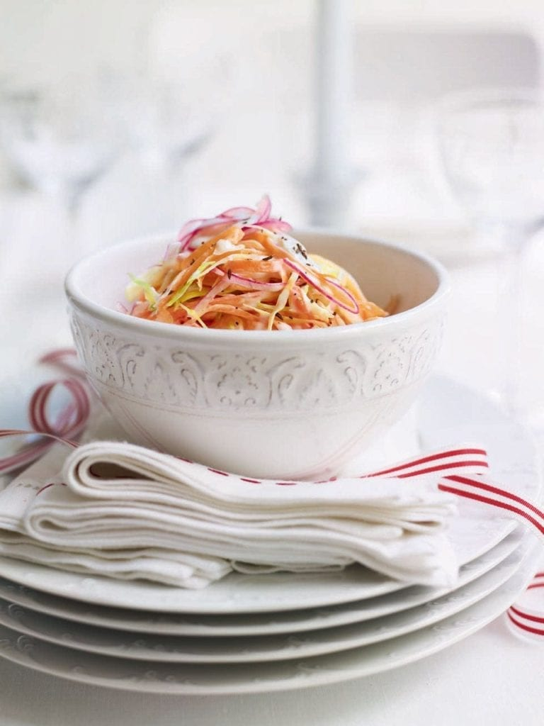Winter vegetable coleslaw