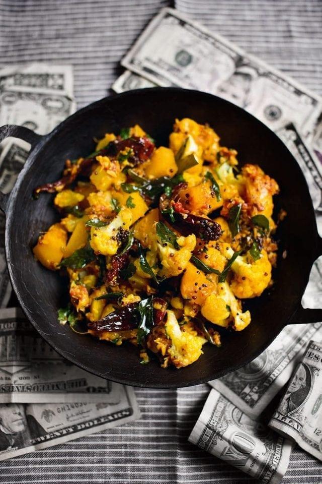 Cauliflower, swede and turnip curry