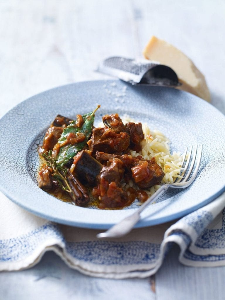 Slow Cooked Lamb With Aubergines Delicious Magazine