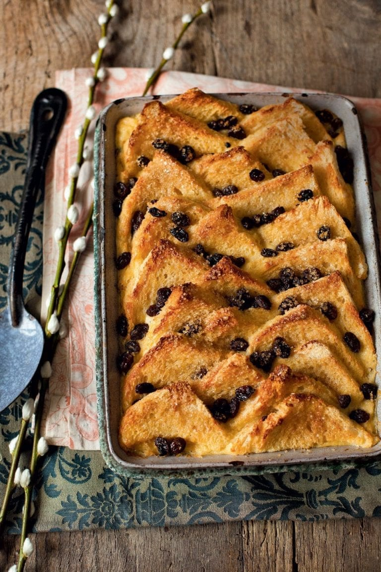 Classic bread and butter pudding