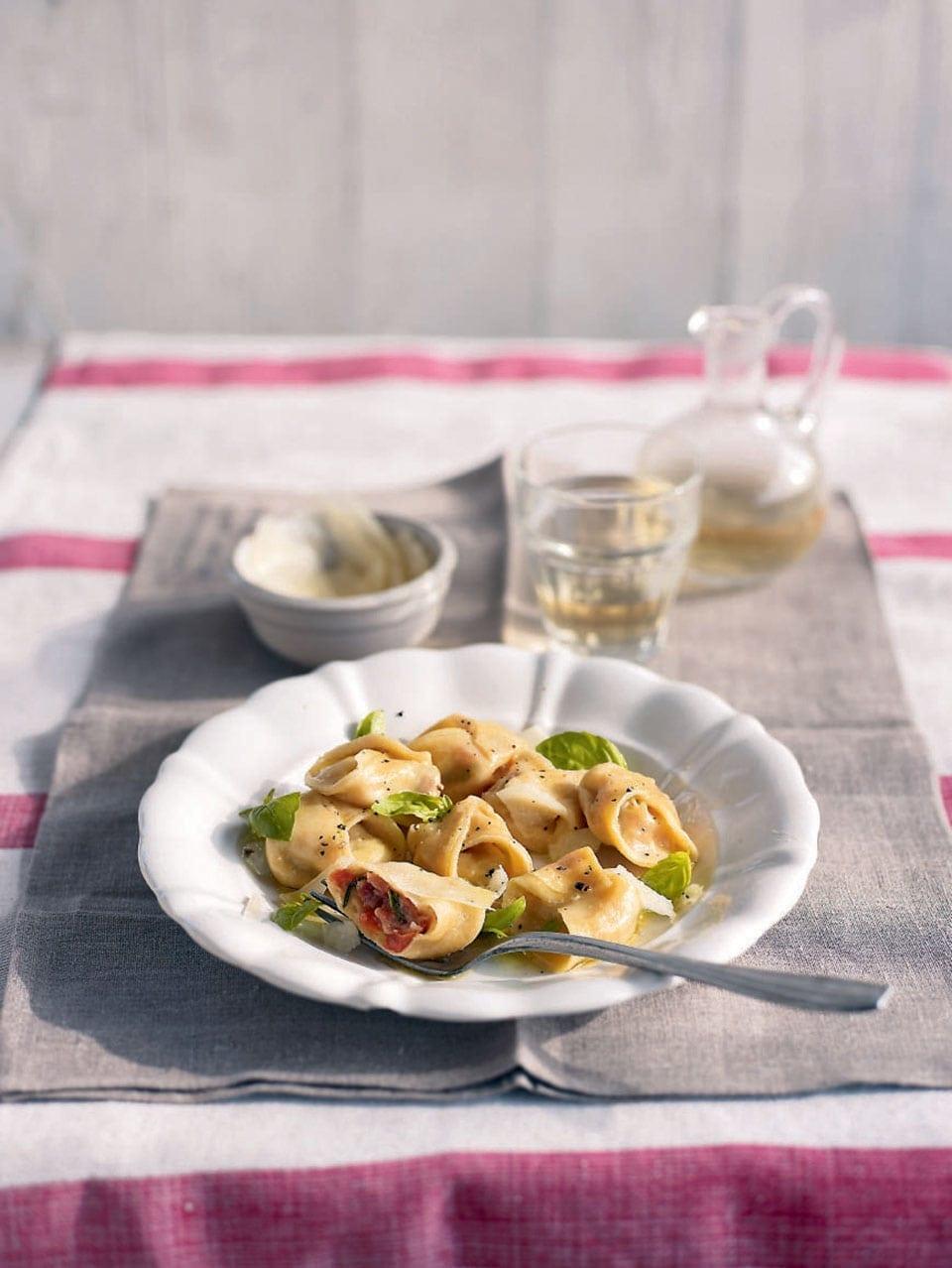 Cheese And Parma Ham Tortellini Recipe Delicious Magazine