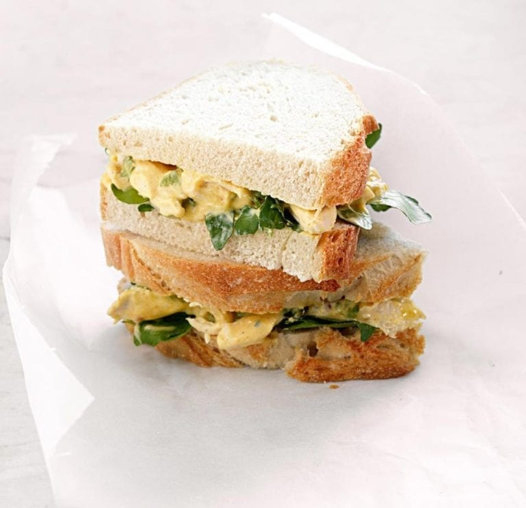 Quick coronation chicken sandwich
