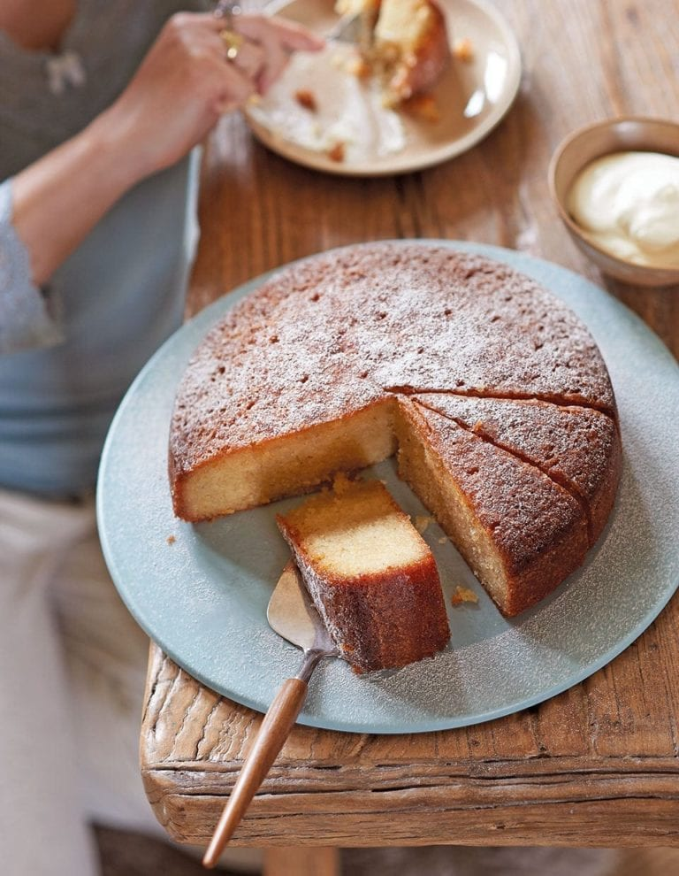 Spiced citrus syrup cake