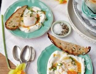 Turkish-style poached eggs with yogurt and chilli butter