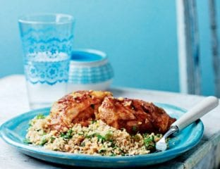 Chermoula chicken and nutty couscous