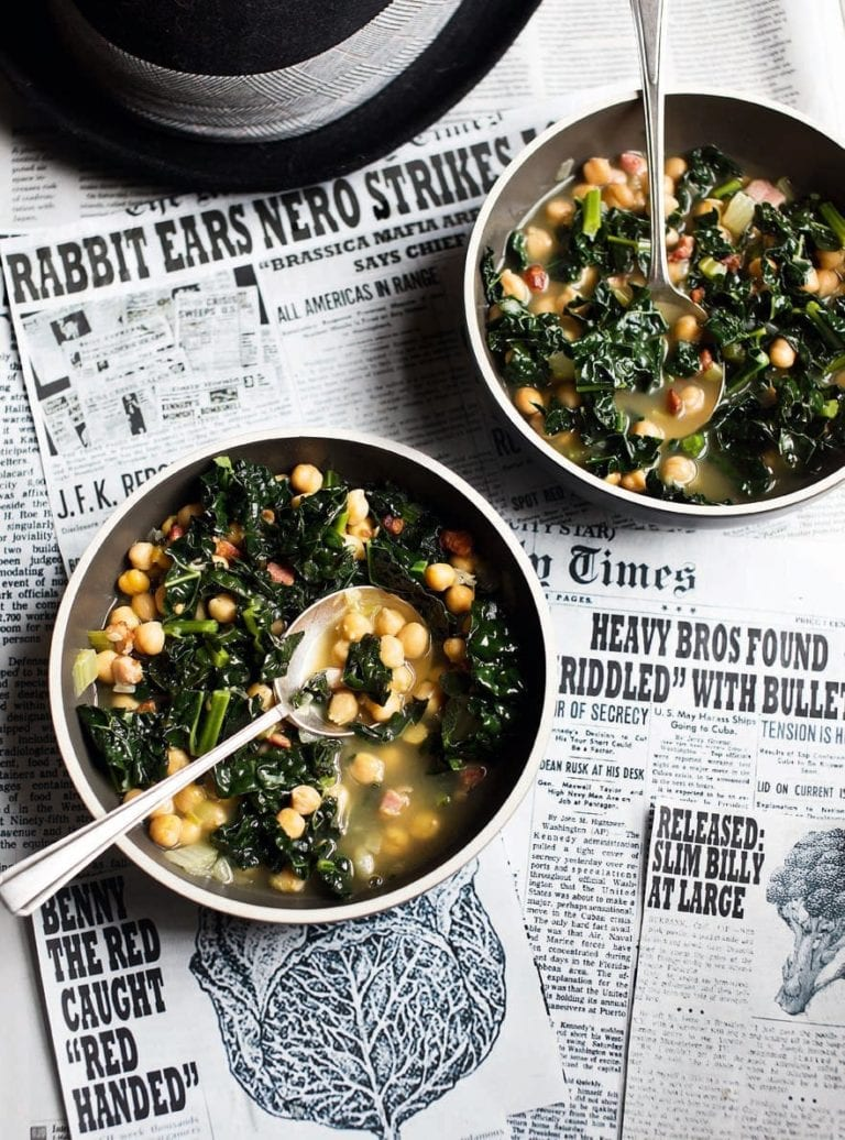 Chickpea and cavolo nero soup