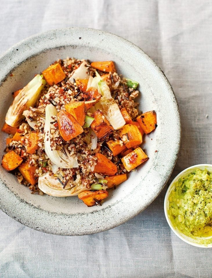 Diana Henry's pilaf of mixed grains, sweet potato and fennel