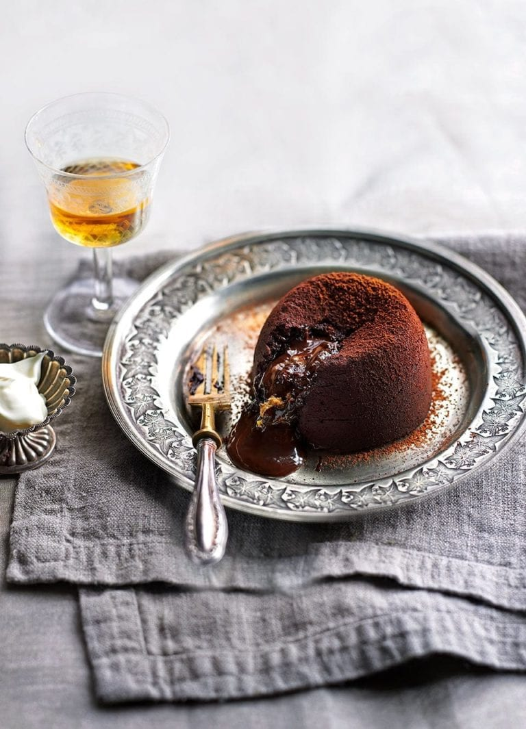 Peanut butter cup chocolate fondants