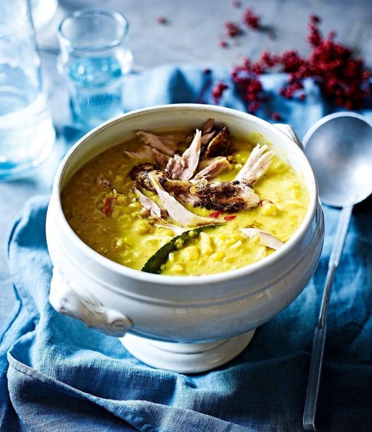 Guinea fowl muligatawny soup