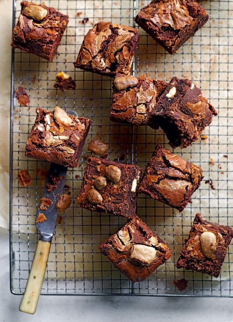 Triple chocolate chip brownies