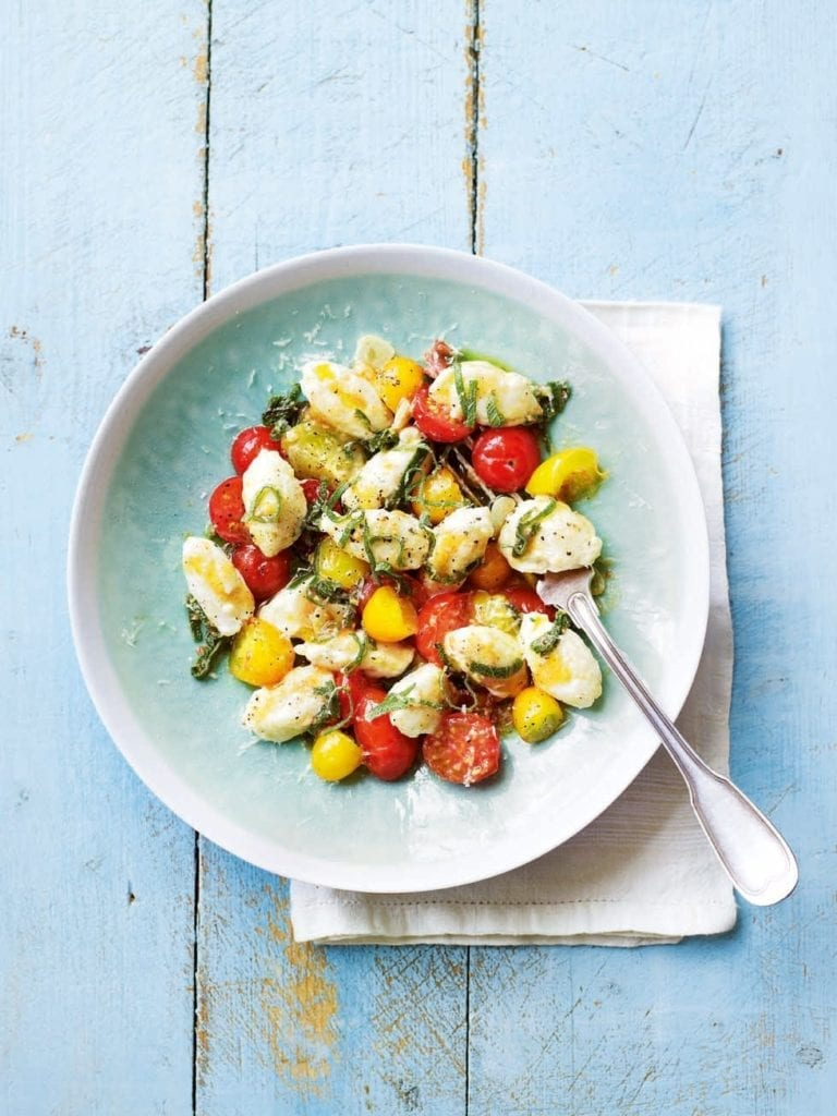 Ricotta gnocchi with cherry tomatoes and sage