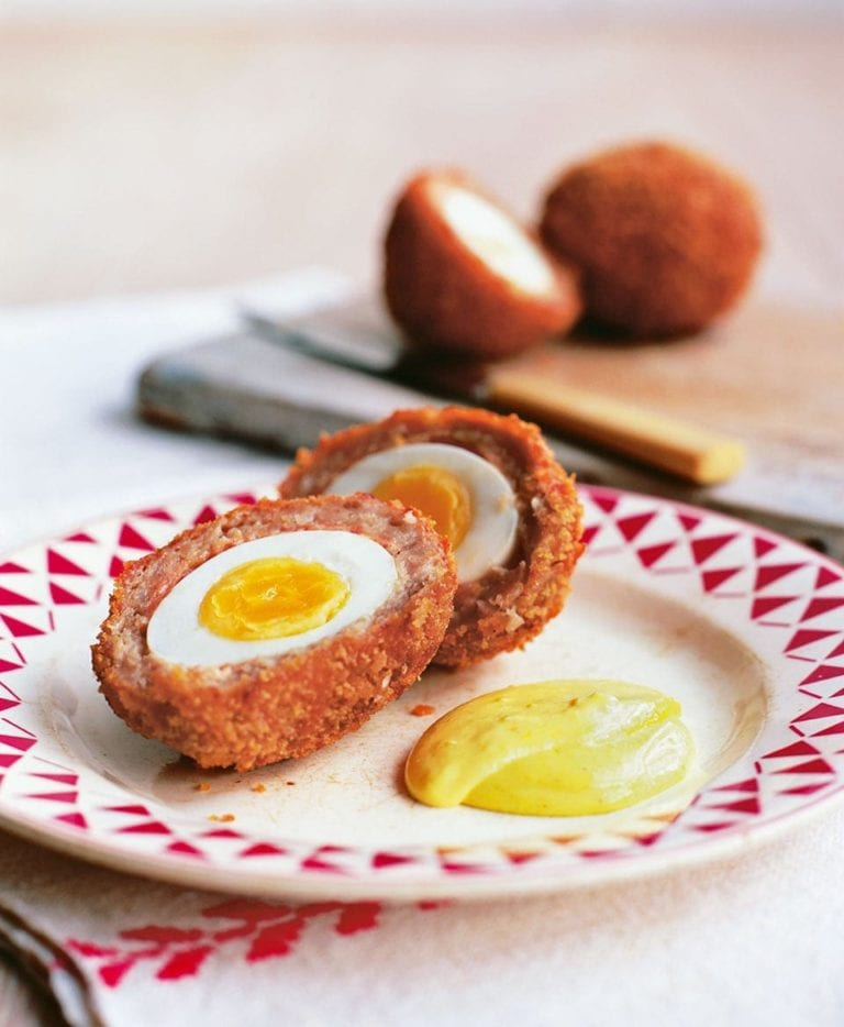Scotch eggs with curried mayonnaise