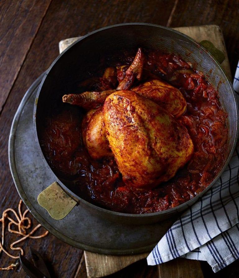 Rogan josh-braised chicken