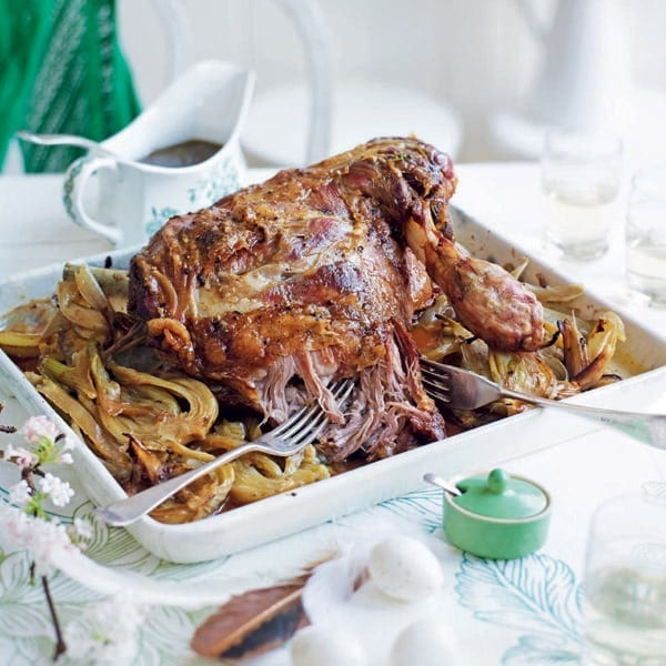 Slow-cooked shoulder of lamb with fennel and marsala