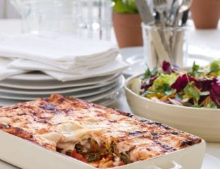Spinach, parmesan and sausage cannelloni