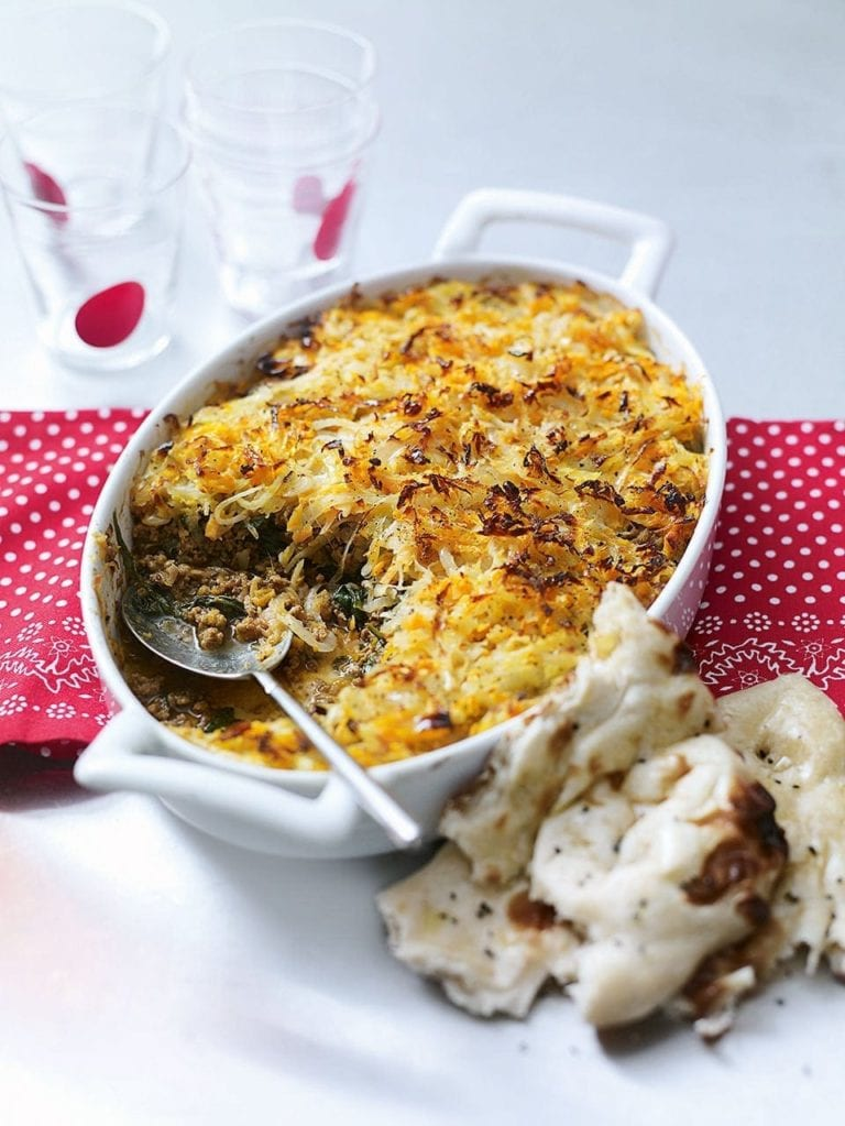 Lamb keema with rosti topping