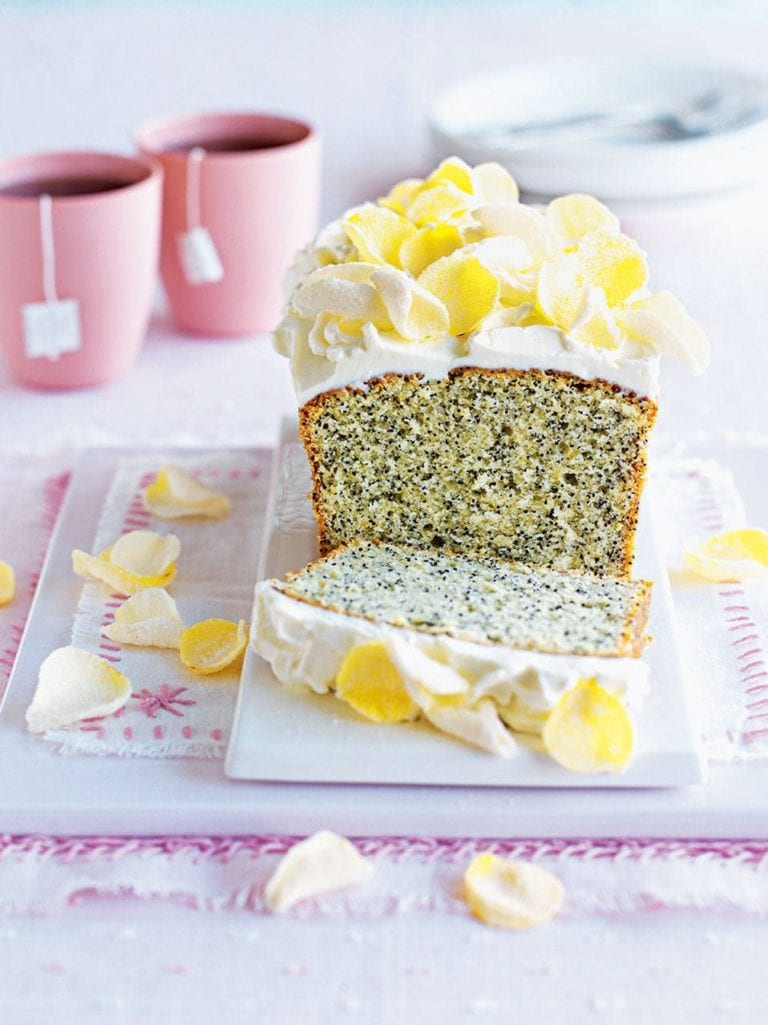Lemon And Poppy Seed Loaf Cake With Cream Cheese Frosting