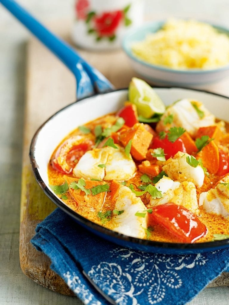 Chunky fish and sweet potato curry