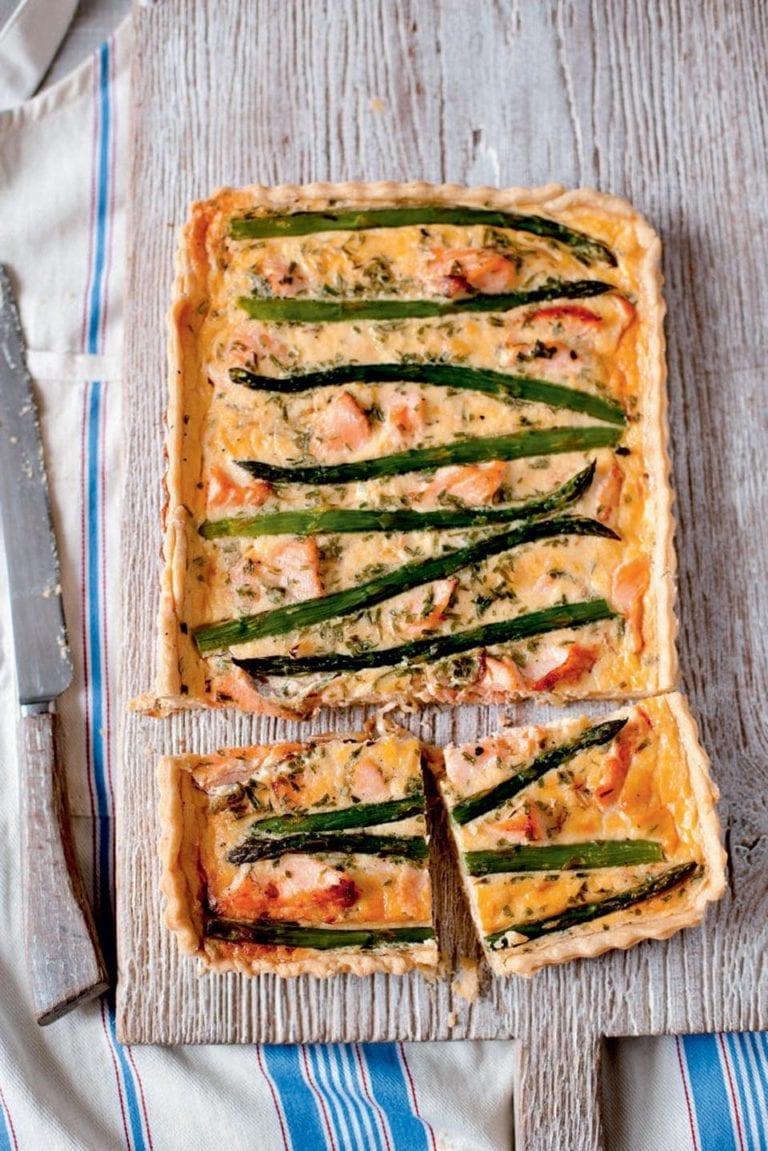Salmon and asparagus tart recipe