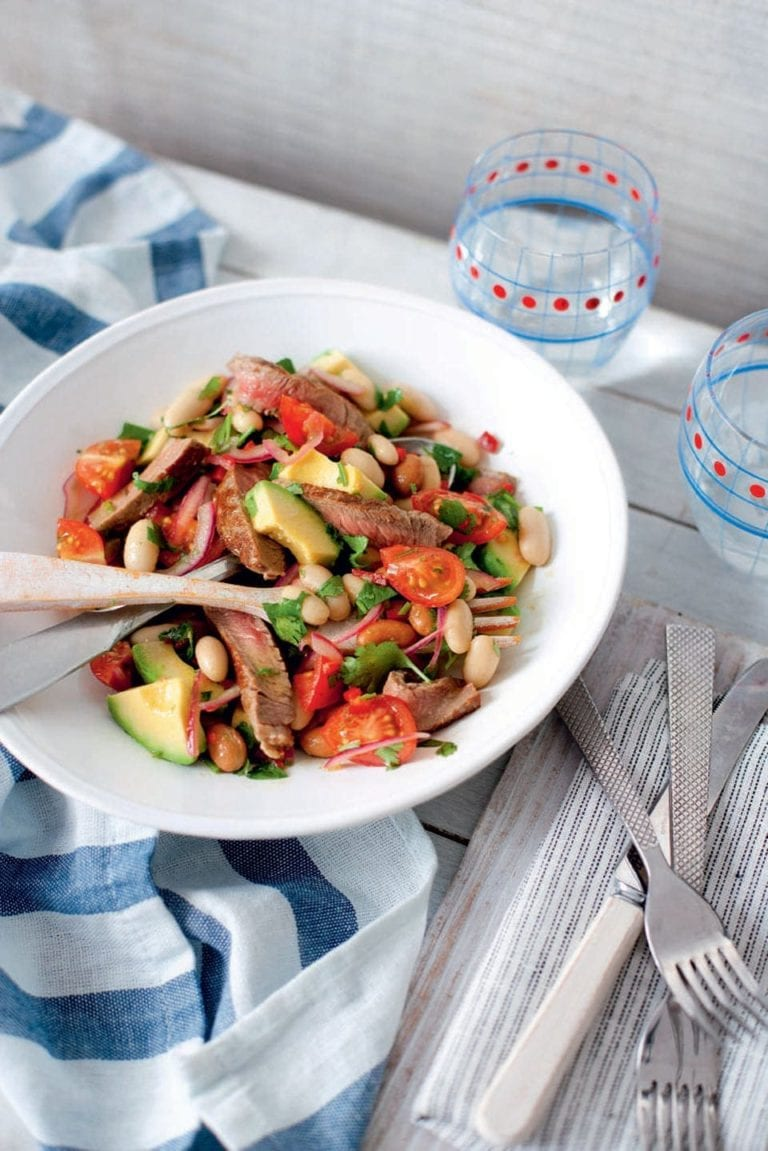 Mexican steak and bean salad recipe