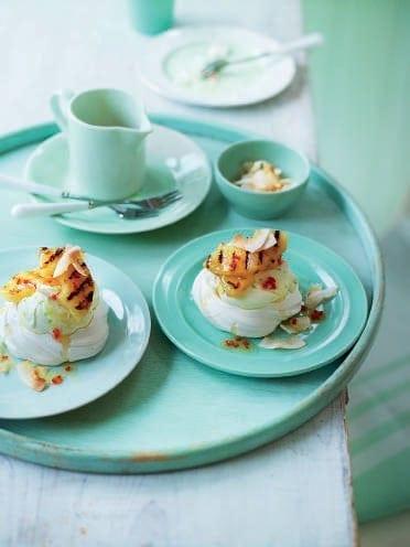 Tropical fruit meringues