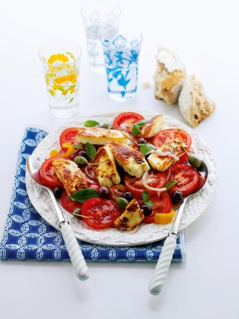 Mediterranean halloumi salad