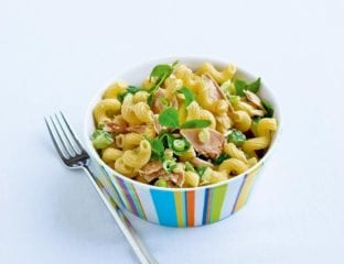 Zingy tuna and wasabi pasta salad