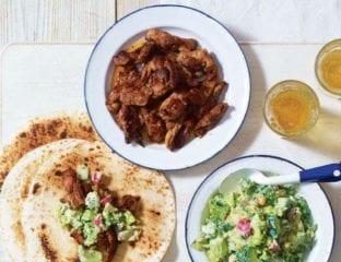 Creole chicken wraps with US-style chopped salad