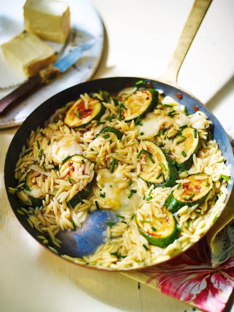 Courgette and taleggio orzo risotto