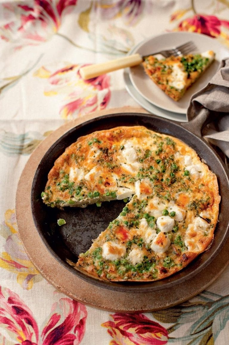Feta and pea rosti tortilla