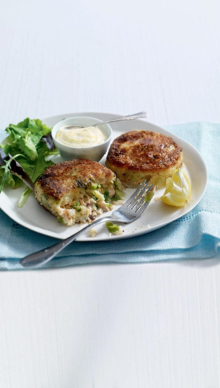 Lemon and horseradish fishcakes
