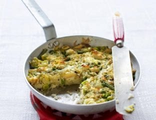 Veg and feta bubble and squeak