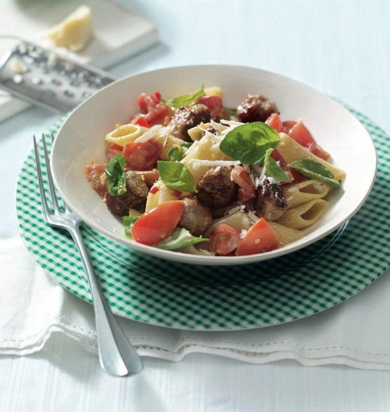 Sicilian sausage pasta