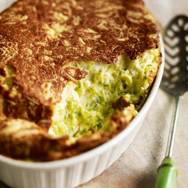 Courgette and berkswell cheese soufflé